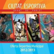 2012/2013 Oferta Deportiva Municipal - Quart de Poblet