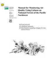 Manual for Monitoring Air Quality Using Lichens on National Forests ...