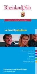 Informationen zum Lehramtsstudium