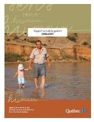 2006-2007 - Agence de la santé et des services sociaux de la ...