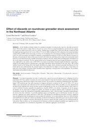 Effect of discards on roundnose grenadier stock assessment in the ...