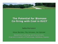 The Potential for Biomass Co-firing with Coal in EU27