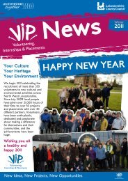vip newsletter winter 2011 - Leicestershire County Council