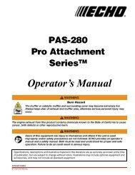 PAS-280 Operator's Manual - Echo Inc.