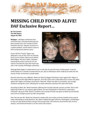 abducted - False DVI Reports