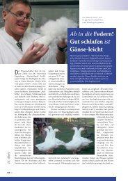 Ab in die Federn! Gut schlafen ist Gänse-leicht - Treude & Metz GmbH