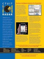 Radar Business Intelligence Software for Restaurants - Hospitality ...