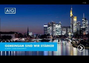 GEMEINSAM SIND WIR STÄRKER - bei AIG in Deutschland