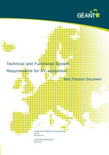 Technical and Functional System Requirements for AV ... - Terena
