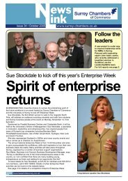 Oct05 Newslink.indd - Surrey Chambers of Commerce