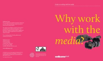 Wellcome Trust Guide to Working with the Media Download PDF