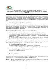 politique d'évaluation des professeurs membres réguliers du centre ...