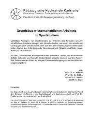 Grundsätze wissenschaftlichen Arbeitens im Sportstudium