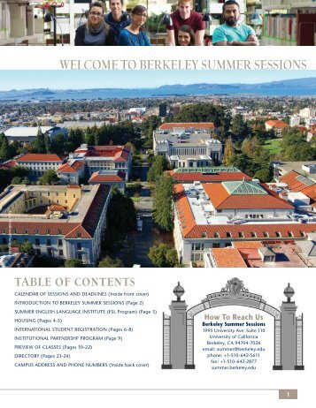 welcome to berkeley summer sessions