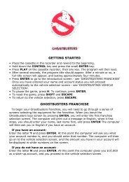 Ghostbusters - Manuel (English, Français, Deutsch) - du site