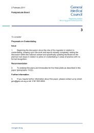 Item 3 - Proposals on Credentialing - General Medical Council