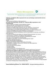 Effektive Mikroorganismen - Edelwasser Laden