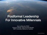 Postformal Leadership For Innovative Millennials - uefiscdi