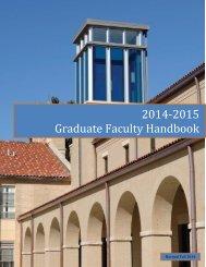 Graduate Faculty/Staff Handbook - Lourdes University
