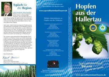 Hopfen aus der Hallertau (Faltblatt) - Hopfenpflanzerverbandes ...