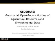 GEOSHARE: Geospatial, Open-Source Hosting of Agriculture ...