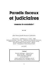 Cessons le scandale - Plateforme Paradis Fiscaux et Judiciaires