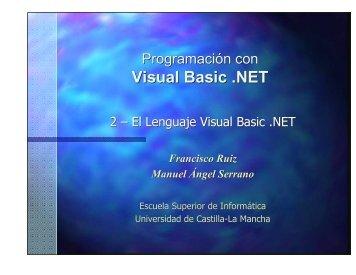 Visual Basic .NET - Universidad de Castilla-La Mancha