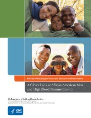 A Closer Look at African American Men and - Centers for Disease ...
