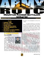 Mountain Ranger Battalion Mountain Ranger Battalion