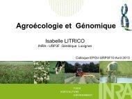 Agroécologie et Génomique - Inra