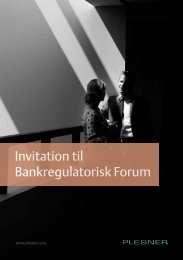 Invitation til Bankregulatorisk Forum - Plesner