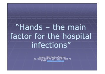 From medical specialists and doctors