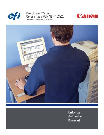 DocStream™ 5 for Color imageRUNNER® C3220 - Canon USA, Inc.