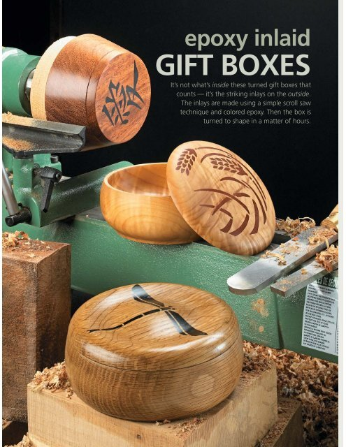 Epoxy Inlaid GIFT BOXES - Woodsmith Woodworking Seminars