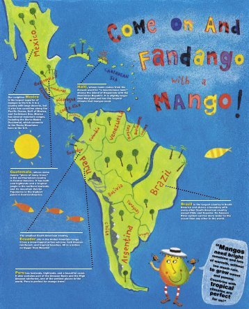 Mango Geography Poster - National Mango Board