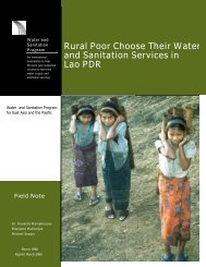 Rural Poor Choose Their Water and Sanitation Services - WSP