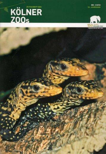 Nr. 1/2010, 53. Jahrgang (PDF) - Kölner Zoo