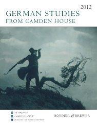 Download the 2012 German Studies Catalogue - Camden-House