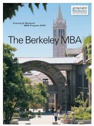 Evening & Weekend MBA Program 2005 - Berkeley MBA