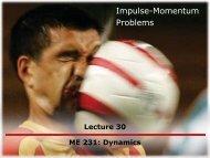 Impulse-Momentum Problems