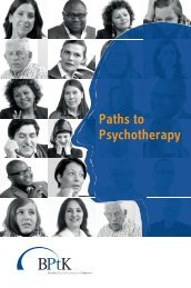 Paths to Psychotherapy - Bundespsychotherapeutenkammer