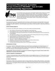 download our Sponsor Information Pack (PDF) - Turnaround ...