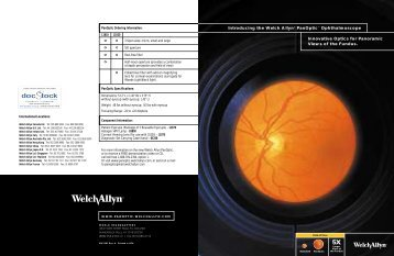 Introducing the Welch Allyn PanOptic Ophthalmoscope. - DocStock
