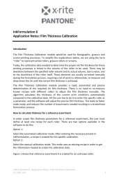 InkFormulation 6 - AppNotes - Thickness Calibration - X-Rite