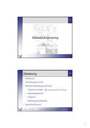 Software-Engineering Gliederung - Telematik TH Wildau