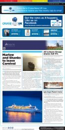 Marlow and Shanks to leave carnival - Travel Daily Media