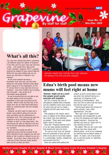 Issue 2 - East and North Herts NHS Trust