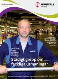 Medlemsmagasin 2/2010 - IF Metall
