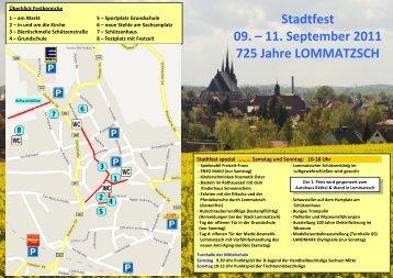 Stadtfest 09. – 11. September 2011 725 Jahre ... - Lommatzsch.Net