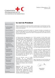 Commission permanente - Standing Commission of the Red Cross ...